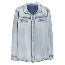 Buy Violeta by Mango Light Denim Shirt, Open Blue Online at johnlewis.com