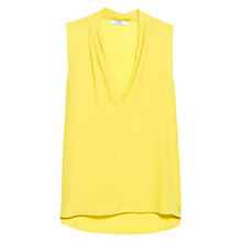 Buy Mango Sleeveless Pleated Blouse, Yellow Online at johnlewis.com