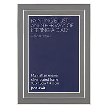 Buy John Lewis Manhattan Grey Enamel Picture Frame Online at johnlewis.com