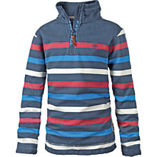 Buy Fat Face Boys' Jamie Shark Half Neck Sweatshirt, Navy Online at johnlewis.com