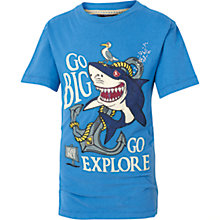 Buy Fat Face Boys' Shark Anchor T-Shirts, Cobalt Blue Online at johnlewis.com