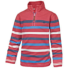 Buy Fat Face Boys' Jamie Shark Half Neck Sweatshirt, Red Online at johnlewis.com