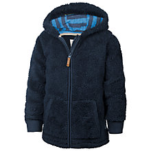 Buy Fat Face Boys' Octopus Hooded Zip Through Fleece, Navy Online at johnlewis.com