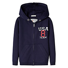Buy Mango Kids Boys' USA Cotton Hoodie, Navy Online at johnlewis.com