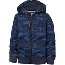 Buy Fat Face Boys' Camo Zip Hooded Sweatshirt, Blue Online at johnlewis.com
