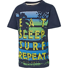 Buy Fat Face Boys' Eat Sleep Surf T-Shirt, Navy Online at johnlewis.com