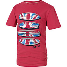 Buy Fat Face Boys' Union Jack T-Shirt, Red Online at johnlewis.com
