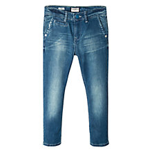 Buy Mango Kids Boys' Chino-Fit Jeans, Dark Blue Online at johnlewis.com
