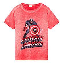 Buy Mango Kids Captain America T-Shirt, Red Online at johnlewis.com