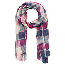 Buy Mango Kids Check Scarf, Purple/Blue Online at johnlewis.com