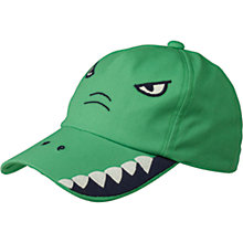 Buy Fat Face Children's Crocodile Design Cap, Green Online at johnlewis.com