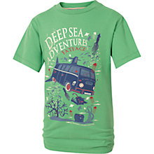 Buy Fat Face Boys' Deep Sea Adventures T-Shirt, Green Online at johnlewis.com
