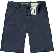 Buy Fat Face Boys' Lincoln Cotton Shorts, Navy Online at johnlewis.com
