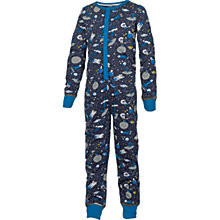 Buy Fat Face Children's Space Print Onesie, Navy Online at johnlewis.com