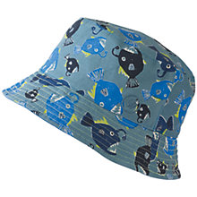 Buy Fat Face Children's Angler Fish Reversible Hat, Blue Online at johnlewis.com