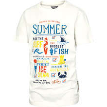 Buy Fat Face Boys' Beach List T-Shirt, Ecru Online at johnlewis.com