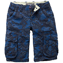Buy Fat Face Boys' Map Camo Cargo Shorts, Indigo Online at johnlewis.com