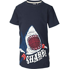Buy Fat Face Boys' Shark T-Shirt, Navy Online at johnlewis.com
