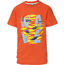 Buy Fat Face Boys' Wave T-Shirt, Orange Online at johnlewis.com