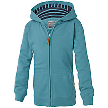 Buy Fat Face Boys' Shark Zip Through Hoodie, Blue Online at johnlewis.com