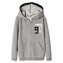 Buy Mango Kids Boys' Cotton Canada Hoodie, Grey Online at johnlewis.com