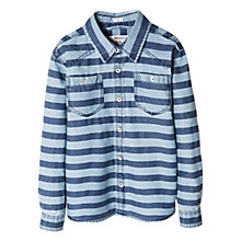 Buy Mango Kids Boys' Denim Striped Shirt Online at johnlewis.com