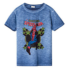 Buy Mango Kids Marvel Spider-Man Print T-Shirt, Navy Online at johnlewis.com