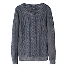 Buy Mango Kids Boys' Cable- Knit Sweater, Navy Online at johnlewis.com