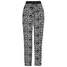 Buy Whistles Helena Mosaic Trousers, Black/White Online at johnlewis.com
