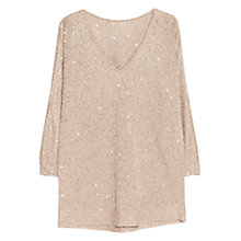 Buy Violeta by Mango Sequin Embellished Jumper Online at johnlewis.com