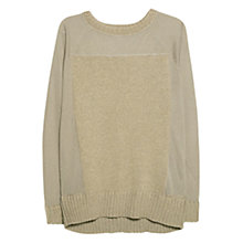 Buy Violeta by Mango Mixed Knit Jumper, Medium Green Online at johnlewis.com