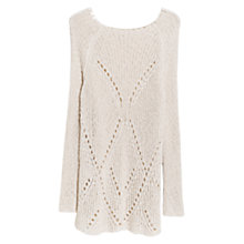 Buy Violeta by Mango Openwork Detail Jumper, Light Beige Online at johnlewis.com