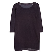 Buy Violeta by Mango Contrast Back Linen Jumper Online at johnlewis.com