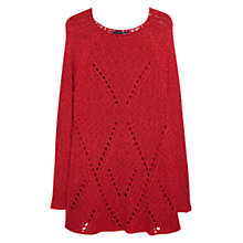 Buy Violeta by Mango Openwork Jumper, Bright Red Online at johnlewis.com