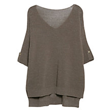 Buy Violeta by Mango Fancy-Knit Jumper, Beige/Khaki Online at johnlewis.com