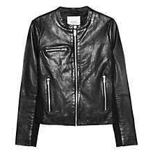 Buy Mango Leather Jacket Online at johnlewis.com