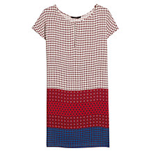 Buy Mango Flowy Printed Dress, Bright Red Online at johnlewis.com