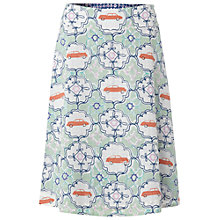 Buy White Stuff Car Print Reversible Cotton Skirt, Pistachio Online at johnlewis.com