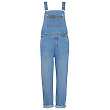 Buy Whistles Slim Denim Dungarees, Blue Online at johnlewis.com