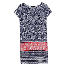 Buy Mango Printed Shift Dress, Symphony Blue Online at johnlewis.com