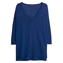 Buy Violeta by Mango Silk Blend Jumper, Klein Blue Online at johnlewis.com