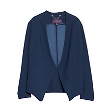 Buy Violeta by Mango Waterfall Blazer, Dark Blue Online at johnlewis.com