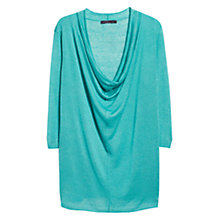 Buy Violeta by Mango Linen-Blend Jumper, Aqua Online at johnlewis.com