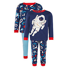 Buy John Lewis Boy Space Pyjamas, Pack of 2, Blue Online at johnlewis.com
