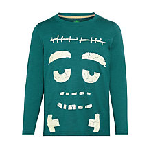 Buy John Lewis Boy Monster Face Glow In The Dark T-Shirt, Green Online at johnlewis.com
