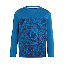 Buy John Lewis Boy Bear Sketch Long Sleeve T-Shirt, Blue Online at johnlewis.com