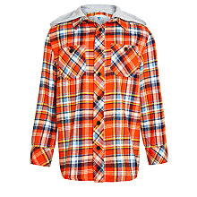 Buy John Lewis Boy Check Hooded Shirt Online at johnlewis.com