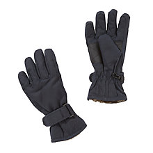 Buy John Lewis Faux Fur Lined Gloves, Navy Online at johnlewis.com