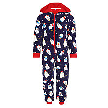 Buy John Lewis Boy's Ice Hockey Christmas Onesie, Navy/Red Online at johnlewis.com