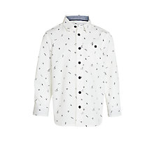 Buy John Lewis Boy Halloween Print Shirt, Cream Online at johnlewis.com